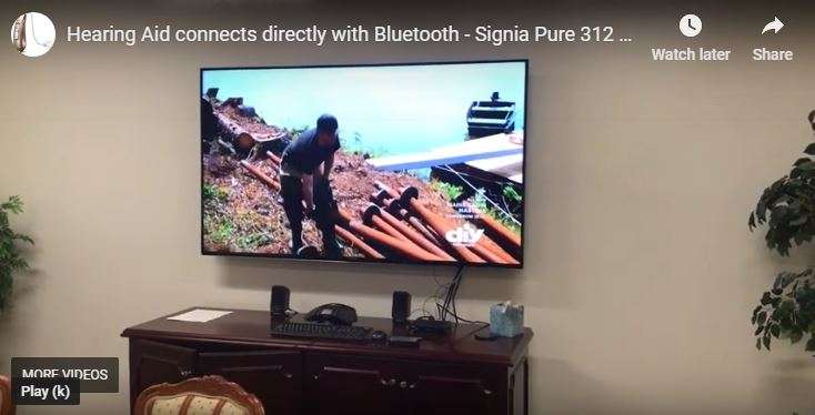 Hearing aids connect directly via bluetooth to TV & Phone